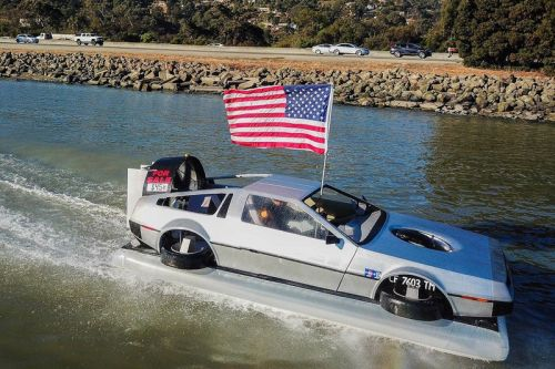 Someone Has Just Listed a Delorean Hovercraft on eBay