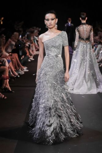 'Silver Belle' on Swan Lake.GEORGES HOBEIKA Couture