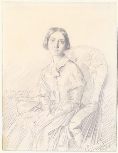 Portrait of Madame Ravaisson by Théodore Chassériau, 1846