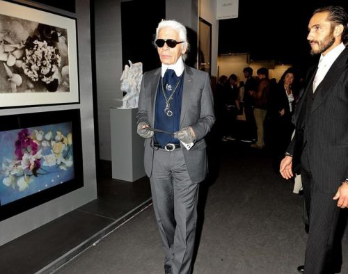 A new exhibition of Karl Lagerfeld's photography just opened in Zurich