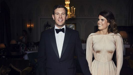 See the Blush Zac Posen Dress Princess Eugenie Wore to Her Wedding Reception