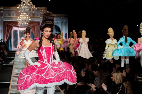 Jeremy Scott Puts Models in Marie Antoinette Cosplay for Moschino Fall 2020