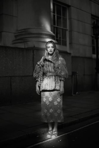 On the Street.Caught in the Light, London