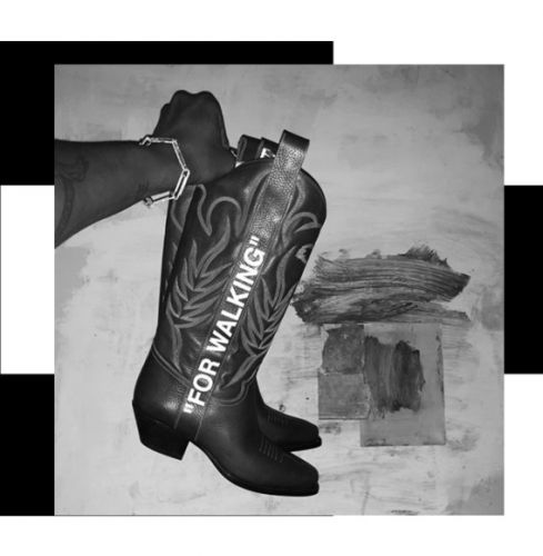 So, Virgil Abloh is backing the cowboy boots trend