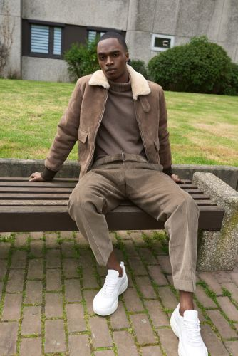 Brutal Elegance: Bakay Diaby Dons Modern Style for APROPOS Journal