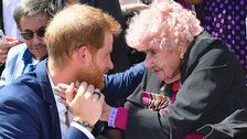 Prince Harry Reunited With 98-Year-Old War Widow In Sydney