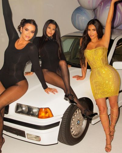 Kim Kardashian Rocked a Vintage Gold Dolce and Gabbana Dress for Her 40th Birthday Party - Photos!