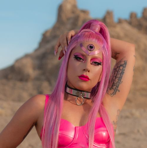 "Lady Gaga Is a ""Kindness Punk"" With Pink Hair in 'Stupid Love' Music Video"