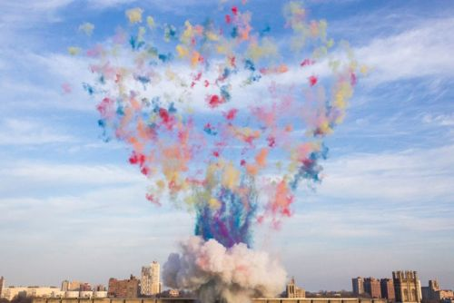 Cai Guo-Qiang's 'Color Mushroom Cloud' Explodes in Chicago