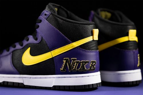 Nike Dunk High EMB is Revealed with Lakers-Inspired Decor