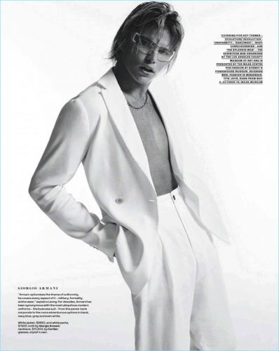 History Repeated: Jordan Barrett Dons Eclectic Style for GQ Australia