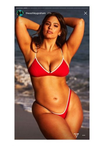Ashley Graham's Husband Trolled Her by Drawing Pubic Hair on Her Bikini Photos