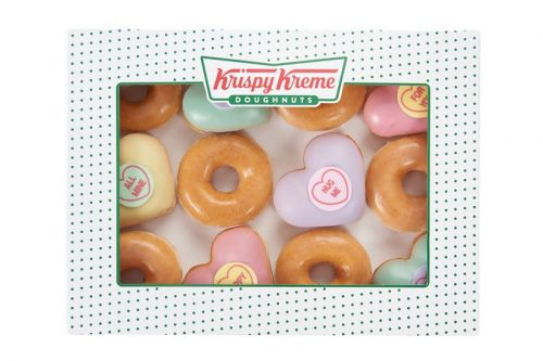 "Krispy Kreme Joins Iconic Candy Manufacturer Swizzels for ""Love Hearts"" Donuts"