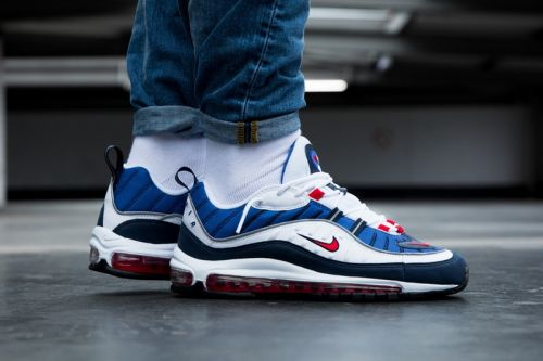 """Nike Air Max 98 """"Gundam"""" and """"Tour Yellow"""" Colorways On-Feet"""
