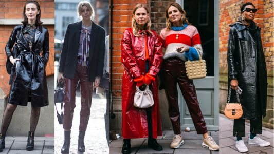 Shiny Leather Pants and Coats Were a Street Style Hit On Day 5 of London Fashion Week