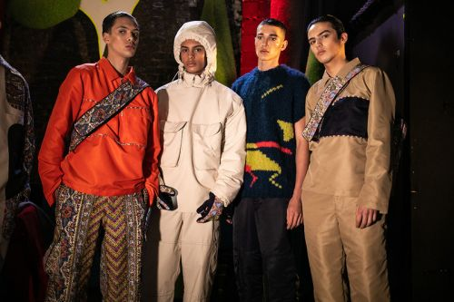 Paria Farzaneh Takes Aim at Social Media With London Fashion Week: Men's Show