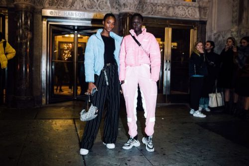 See what the models were wearing outside of Alexander Wang's Fall 2019 show in New York!