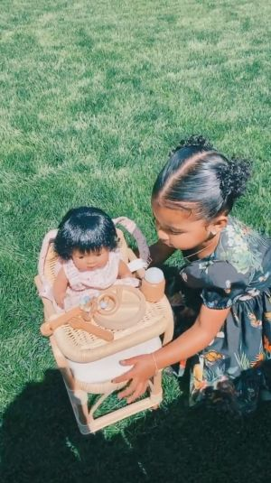 Spring Has Sprung! True Thompson Plays Outside With Mom Khloe Kardashian While Wearing a Floral Dress