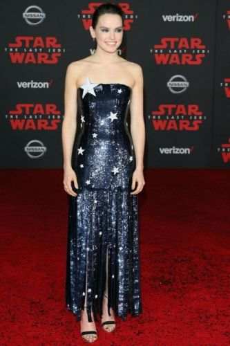 Daisy Ridley Sparkled In Monse at the'Star Wars' PremiereSee