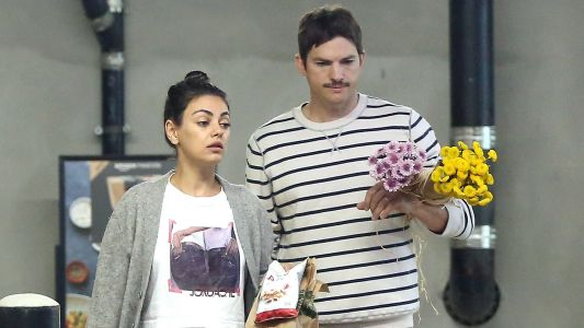 Flowers for Bae! Mila Kunis and Ashton Kutcher Buy a Few Bouquets in Los Angeles
