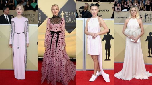There Was a Lot of Pretty, Pretty Pink on the SAG Awards Red Carpet