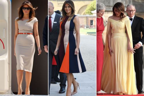 Melania wearing British designers since arriving in UK
