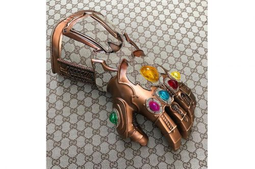 Custom Artist Designs a Gucci-Emblazoned Infinity Gauntlet