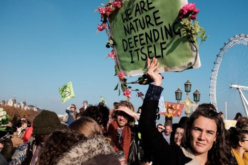 Rebellion day: over 80 arrested in London climate change protest