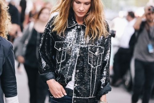 Make a daytime statement in all over sequins.