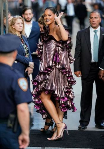 Rihanna Sparkles in Givenchy and Fenty Beauty At The
