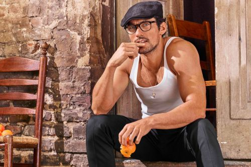 David Gandy models Dolce & Gabbana's sexy new glasses