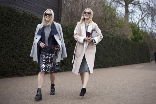 Team a sequin skirt with chunky boots and layers to dress it
