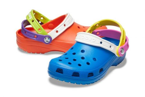 """Crocs Celebrates """"Croc Day"""" With Triple-Strapped, Multi-Colored Clogs"""