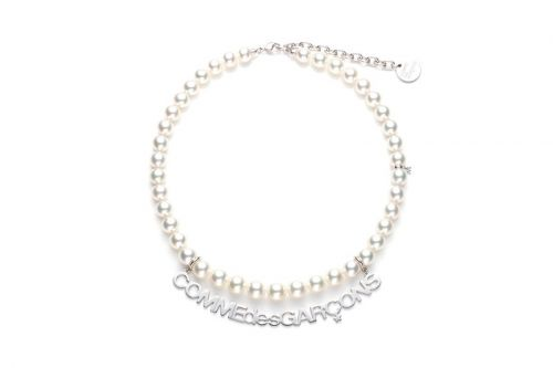 COMME des GARÇONS & Mikimoto Craft Pearl & Sterling Silver Name Plate Necklaces