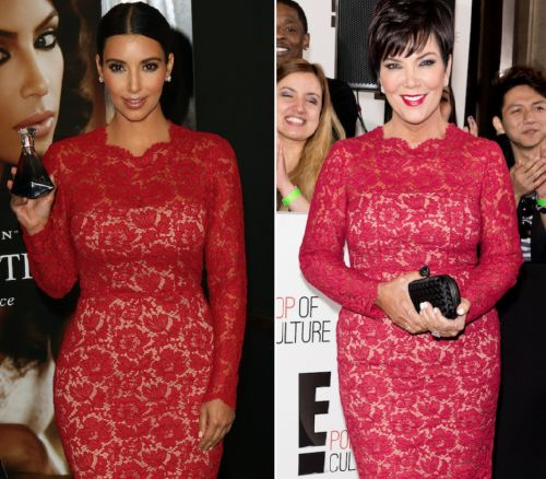 Kim Kardashian and Mama Kris Jenner Have a Major Twinning Moment on Instagram