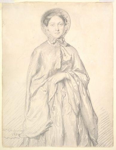 Portrait of a Young Woman Wearing a Cloak and Bonnet
