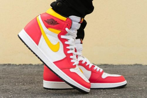 "On-Foot Look at the Air Jordan 1 ""Light Fusion Red"""