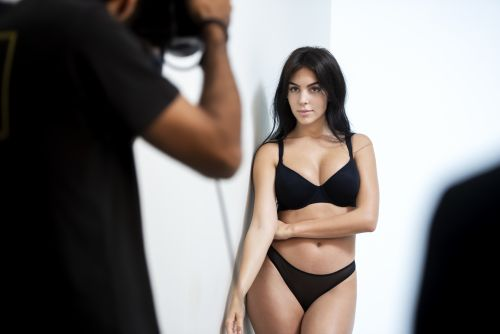 Cristiano Ronaldo's Fiancée Georgina Rodriguez Sizzles in New Lingerie Photo Shoot - See Pics!