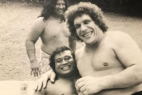 Dwayne 'The Rock' Johnson posts 'crazy throwback' of Andre the Giant and his granddad