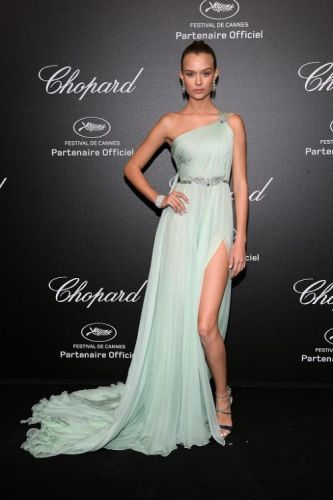 Victoria Secret angel Josephine Skriver attends the Chopard