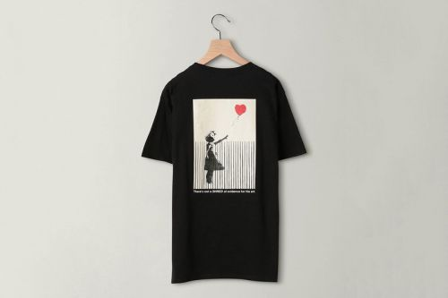 "Banksy and BEAUTY & YOUTH Drop Shredded ""Girl With Balloon"" T-Shirt"