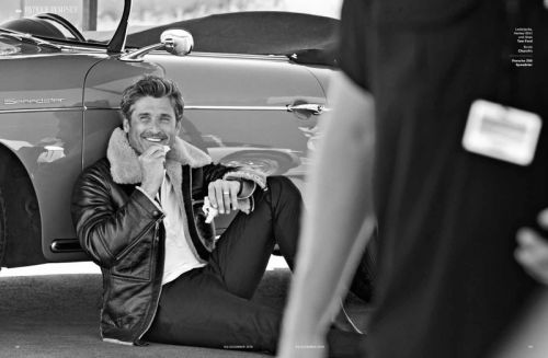 Patrick Dempsey Hits the Racetrack with Porsche for GQ Germany