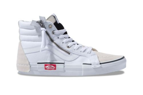 """Vans Re-Issues Its Popular Deconstructed Sk8-Hi """"Inside Out"""" in White"""