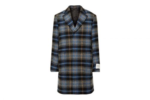 CALVIN KLEIN 205W39NYC's Checked Wool Overcoat Is Ready for Your Fall Wardrobe