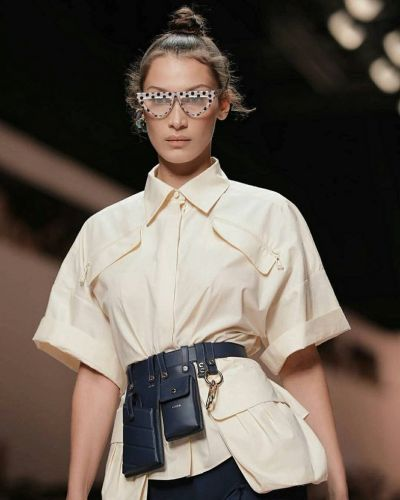 Cycling shorts and utility belts are hot for SS19 at Fendi