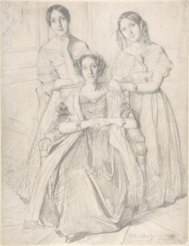 Baroness Duperré & Her Daughters by Théodore