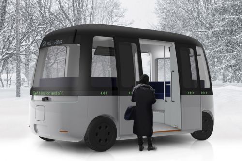 Muji Designs Driverless Shuttle Bus Made for All Weather Conditions