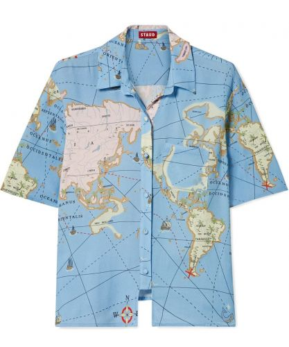 The Map-Print Shirt Alyssa Will Wear on her Summer Travels