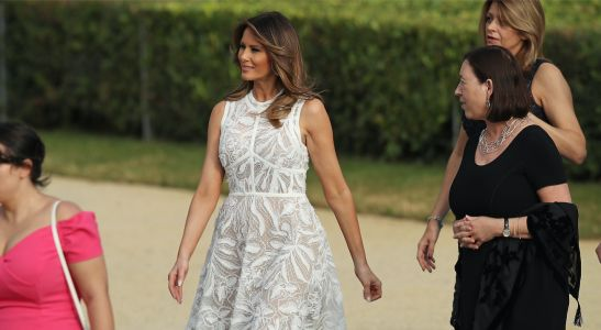 Melania Trump Wears Roland Mouret for her First Appearance in London