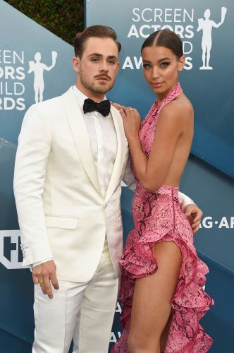 Dacre Montgomery and Girlfriend Olivia Pollock Slay the SAG Awards in Bright Outfits